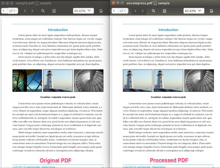 image replaced pdf