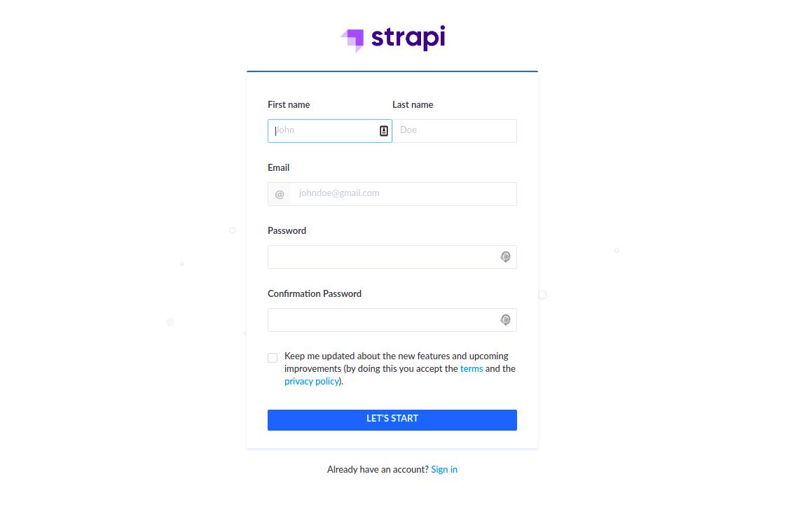 strapi-register-admin